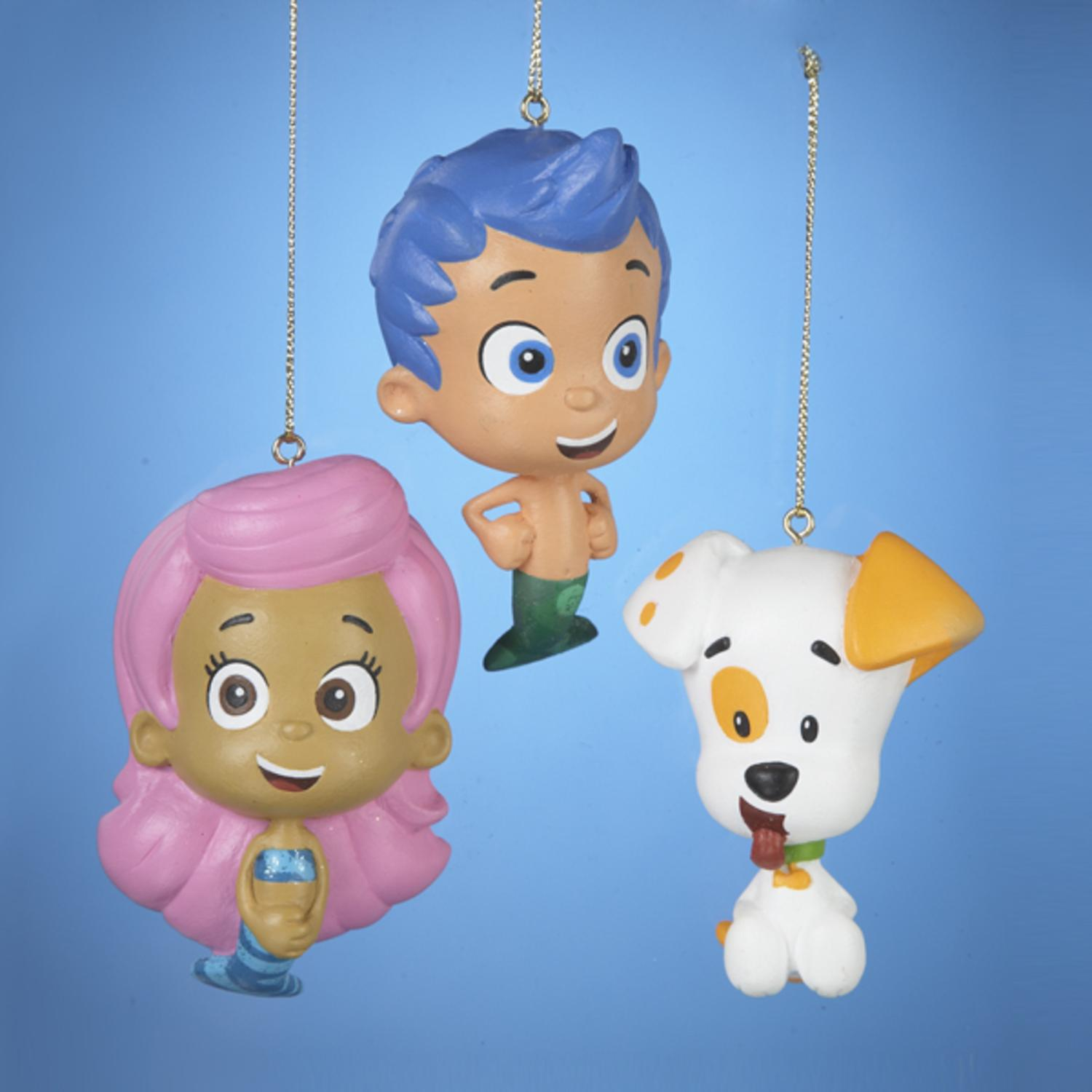 Pack of 24 Bubble Guppies Gil, Molly and Bubble Puppy Christmas Ornaments 2.5""