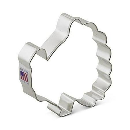 Ann Clark Turkey Cookie Cutter - 4 Inches - Tin Plated Steel