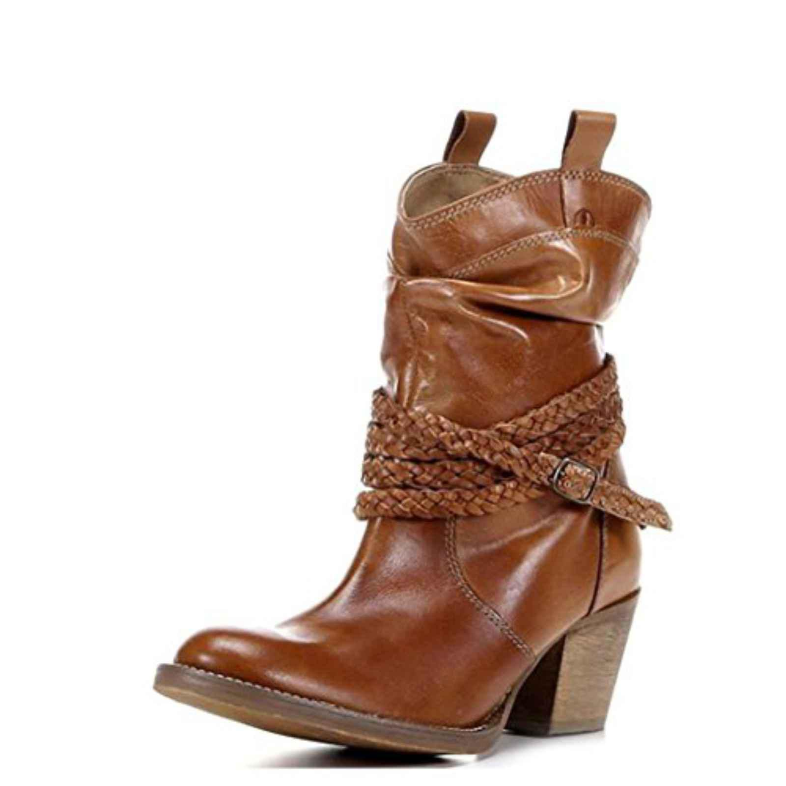 Dingo Twisted sister Round Toe Leather Ankle Boot by Dingo