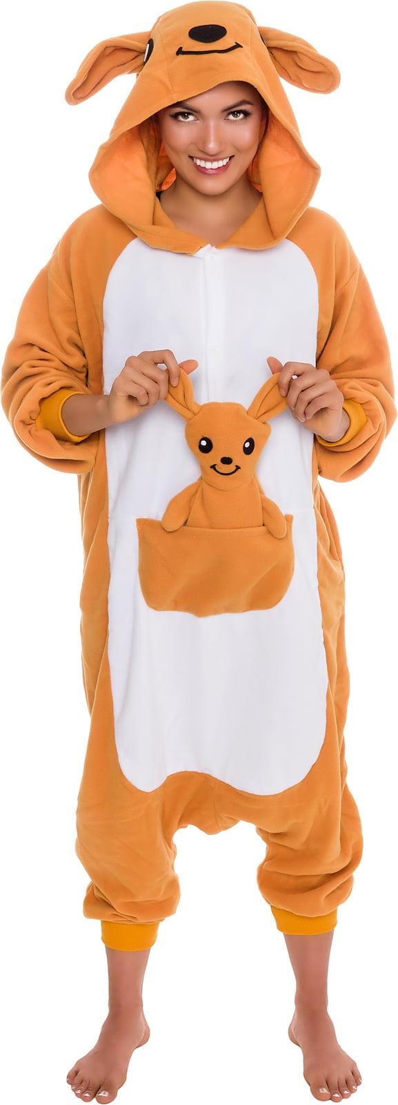 SILVER LILLY Unisex Adult Plush Animal Cosplay Costume Pajamas (Kangaroo) by Silver Lilly