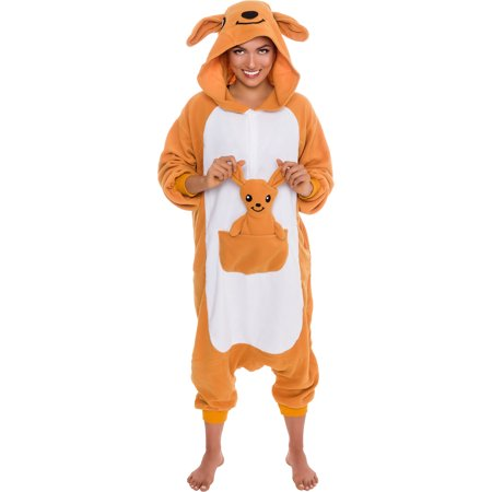 SILVER LILLY Unisex Adult Plush Animal Cosplay Costume Pajamas (Kangaroo) - Ash Female Cosplay