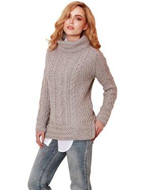 676b94bdfabb99 Product Image Ladies Vented Roll Neck Merino Wool Jumper