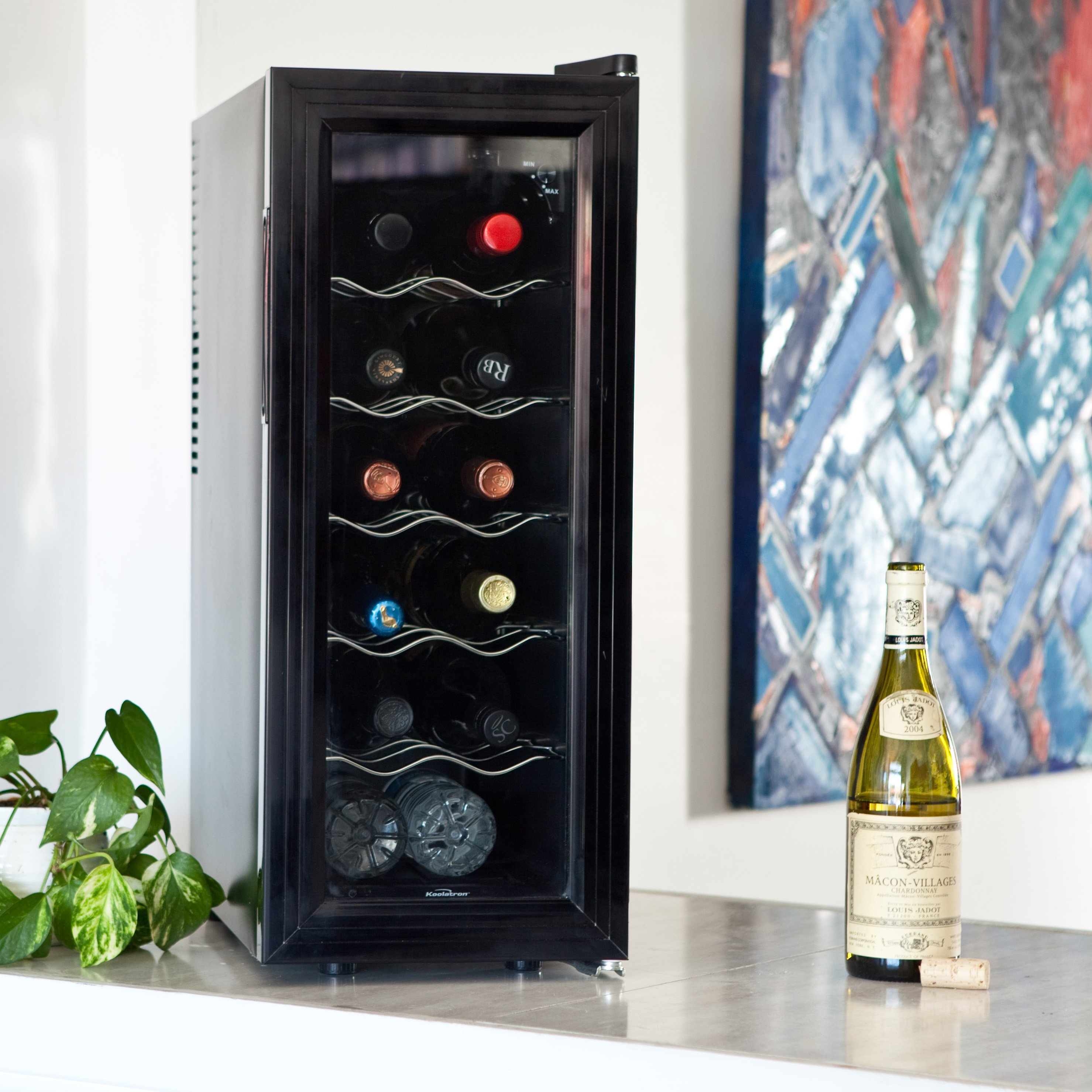 cooler dp newair black countertops countertop com bottle aw thermoelectric appliances refrigerator amazon wine