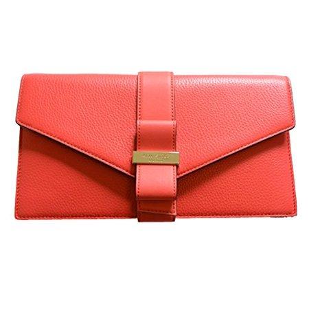Kate Spade Parchment Drive Havana Leather Clutch
