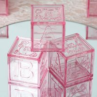 Efavormart Baby Block Plastic Blocks for Baby Shower Decorations Wedding Party Banquet Event Decoration - 12PCS per pack