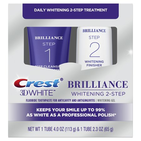 Crest 3D White Brilliance Toothpaste and Whitening Gel System, 4.0oz and
