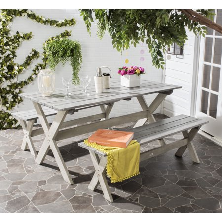 Marina Outdoor Traditional 3 Piece Dining Set