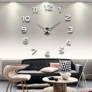 New Diy Acrylic Mirror Home Decoration Large Wall Clock Watch Quartz Living Room Modern Design