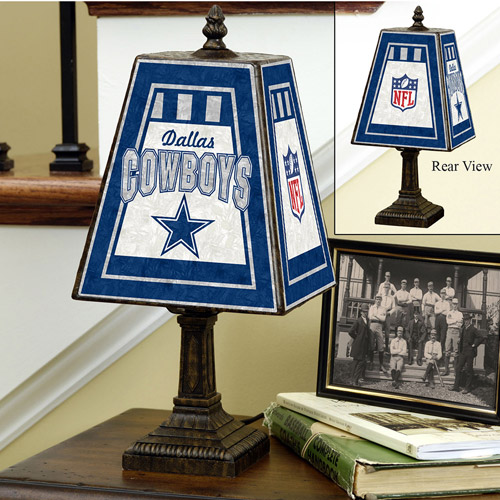 Dallas Cowboys 14-inch Art Glass Table Lamp
