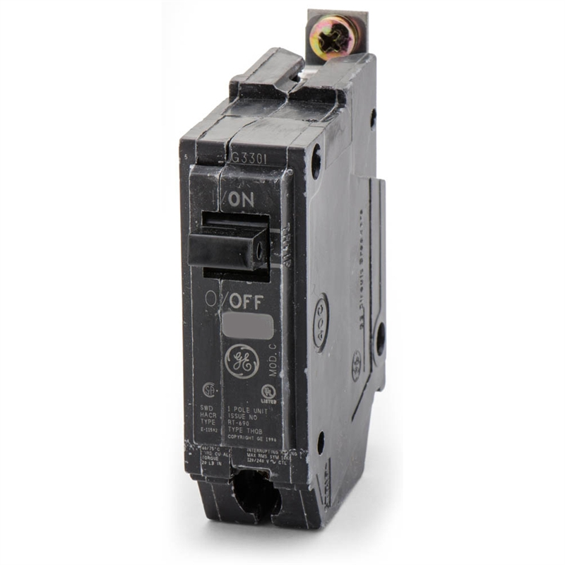 GE THQB1115 15A 120/240V 1P Bolt-On Circuit Breaker