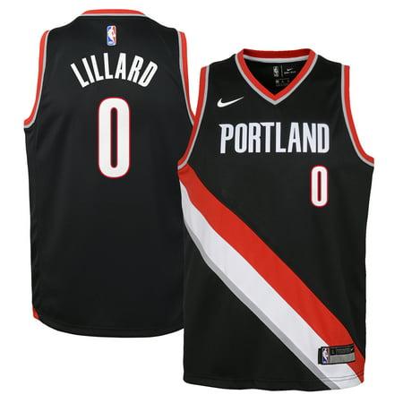 Damian Lillard Portland Trail Blazers Nike Youth Swingman Jersey Black - Icon Edition