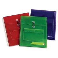 Oxford Poly Pocket Binder Envelopes -150 Sheet Capacity -Poly -Assorted -3 / Pack