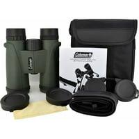 Coleman 10x42 Signature Waterproof Binoculars, Green