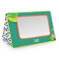 Bright Starts Sit & See Safari Floor Mirror Tummy Time Activity Toy, Ages Newborn +
