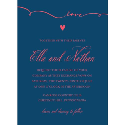 Script Love Standard Wedding Invitation