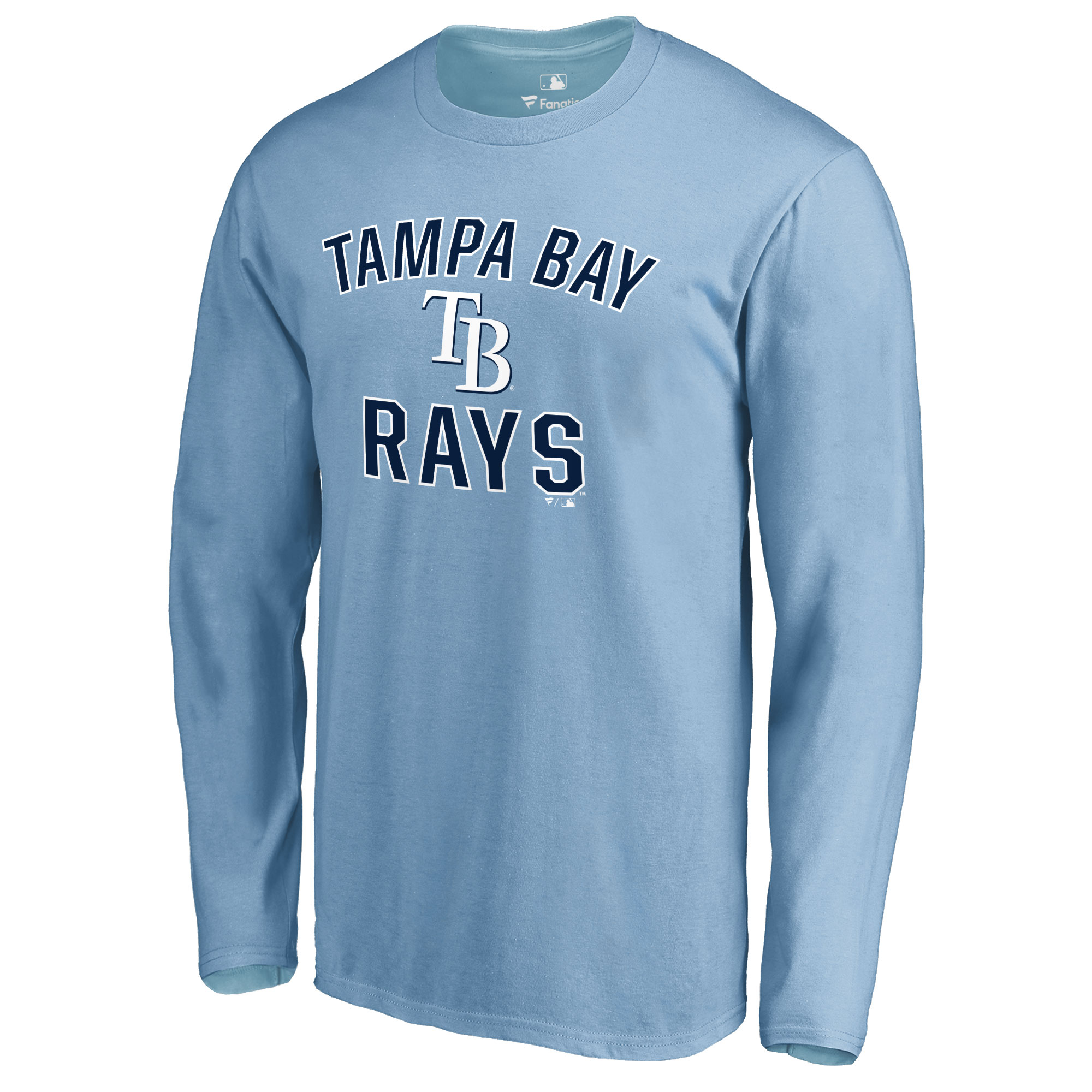 Tampa Bay Rays Victory Arch Long Sleeve T-Shirt - Light Blue