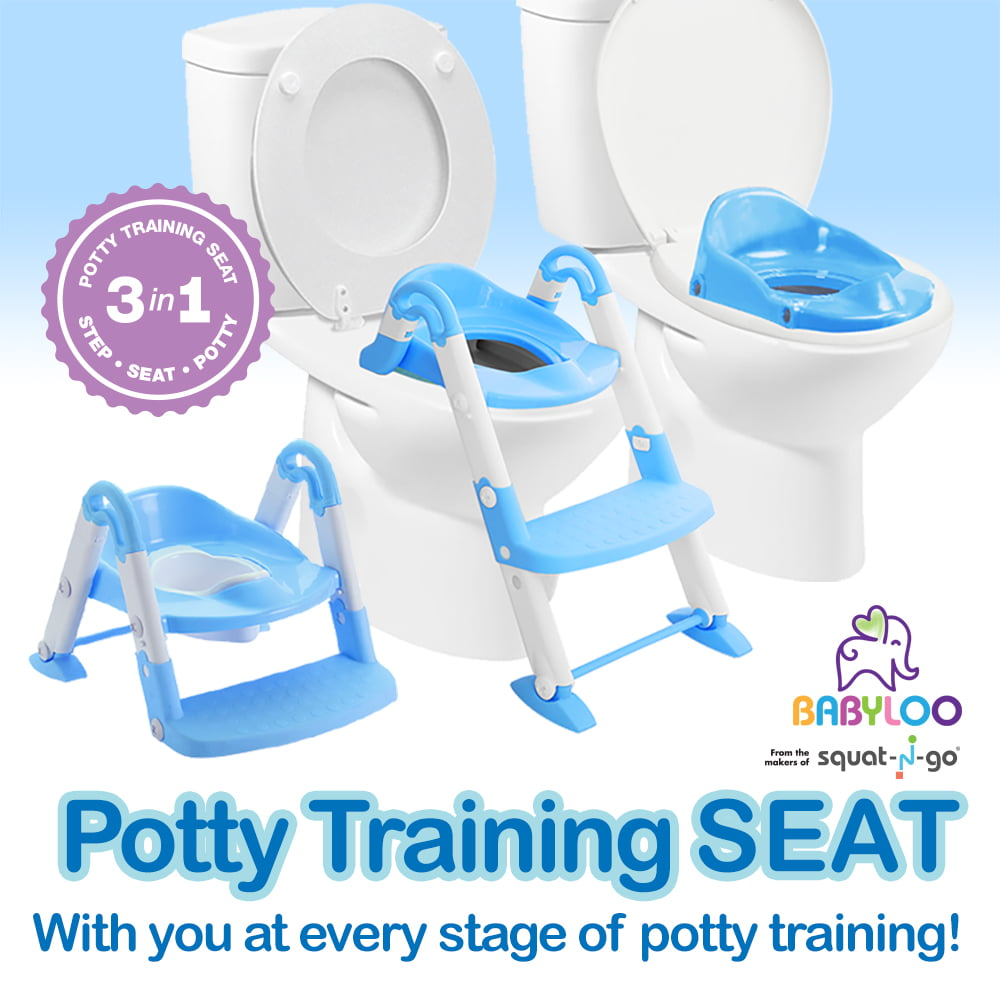 Click here to buy Babyloo Bambino Booster 3 in 1 Collapsible Toilet Training Step Stool assists Your Toddler to go While They... by Babyloo.