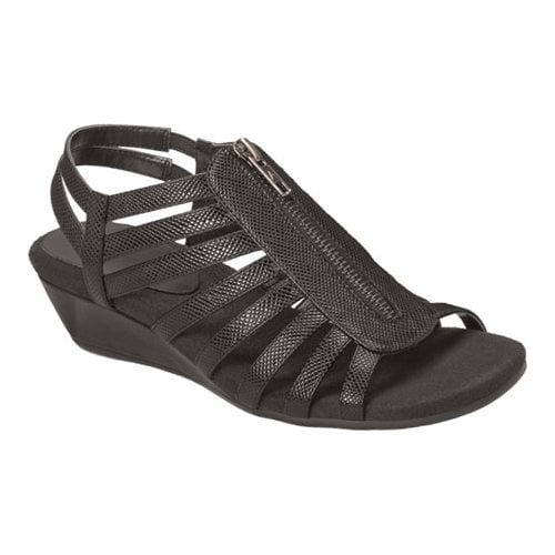 yetaway wedge sandal,black snake,6.5 w