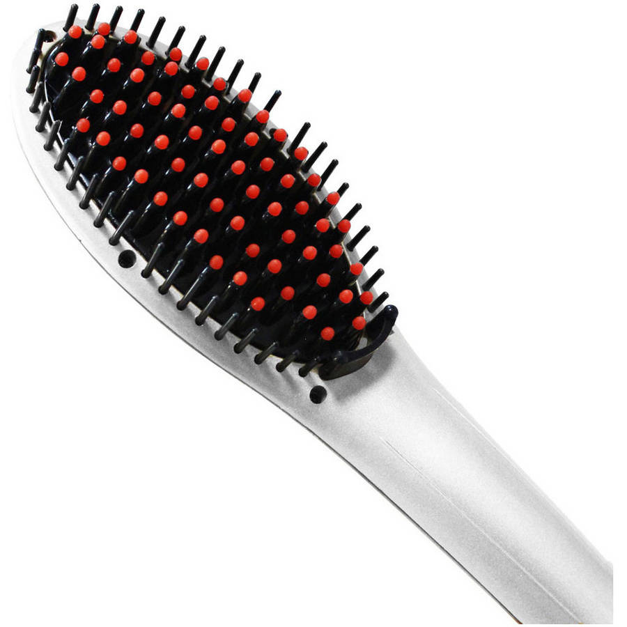 Beautyko Thirty Second Negative Ion Hair Straightening Brush, White