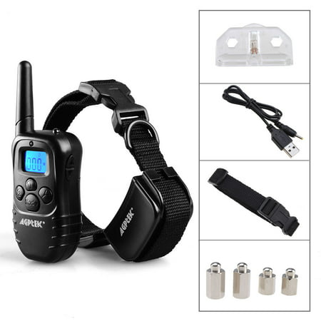 Rechargeable LCD Remote Control Dog Training Collar with 100LV of Shock and