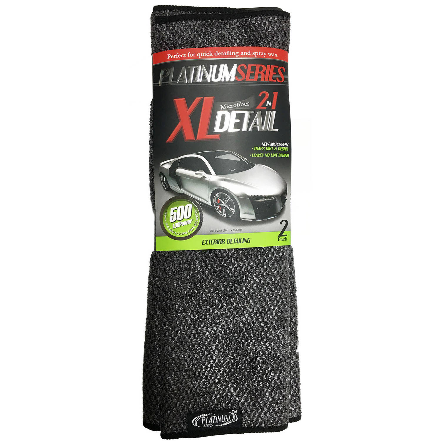 Microtex Platinum XL 2-in-1 Detail Towels, 2pk