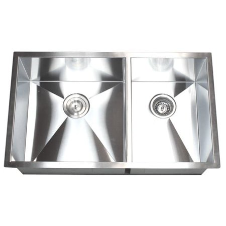 Contempo Living Inc Double Bowl 60 40 32 Inch Undermount Kitchen Sink