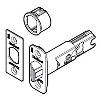 Chrome Brass Roller Latch - Kwikset 81826-001 Antique Brass Adjustable Entry Door Latch