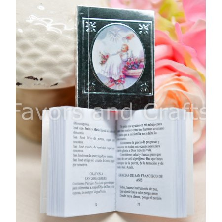 (12 Pack) Baptism Favors Mini Prayer Book Recuerdos Bautizo Libro de Oracion Angel - Baptism Accessories