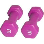 CAP Barbell Neoprene Dumbbell, 3 lbs, Set of 2