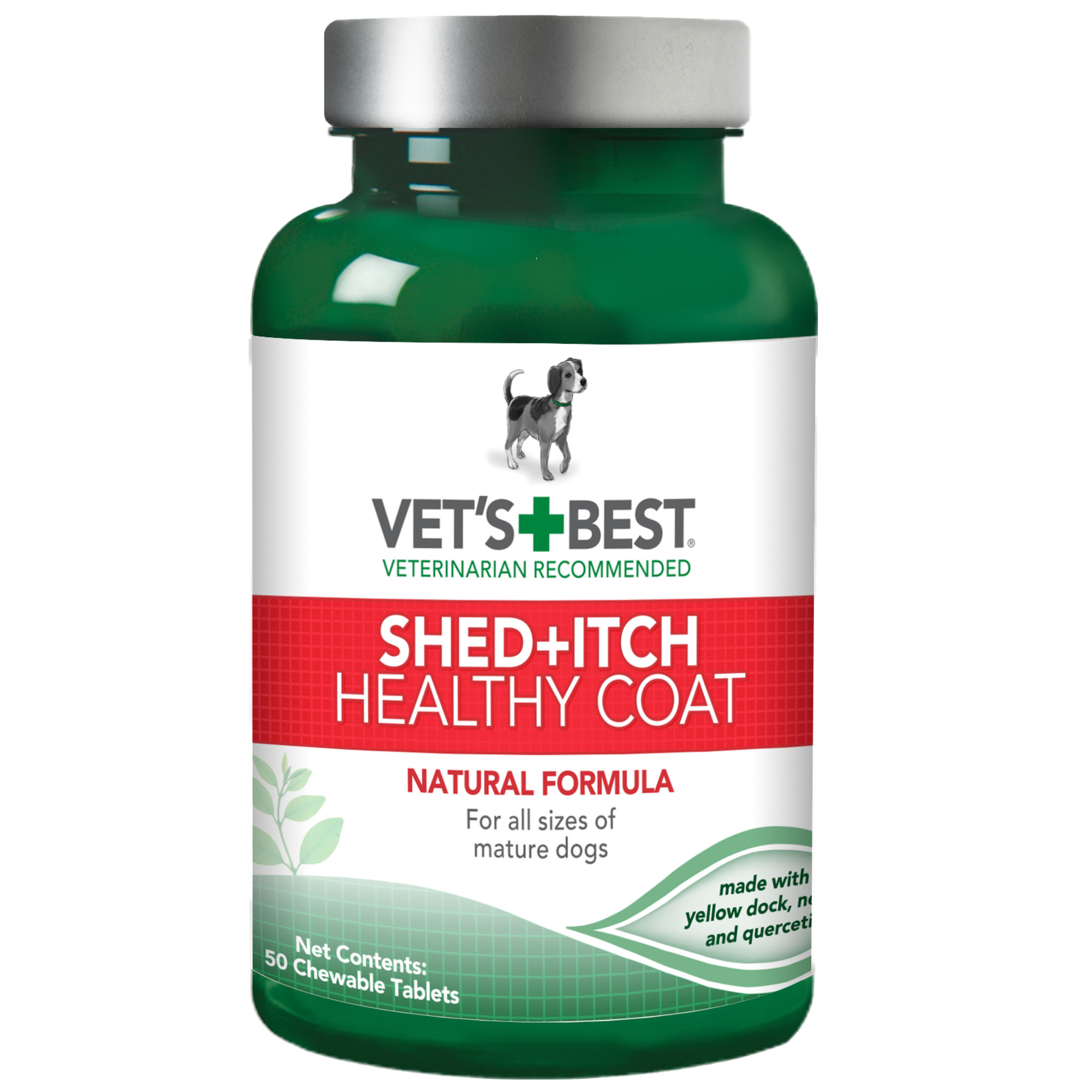 Vet's Best Healthy Coat Shed & Itch Relief Dog Supplements, 50 Chewable Tablets