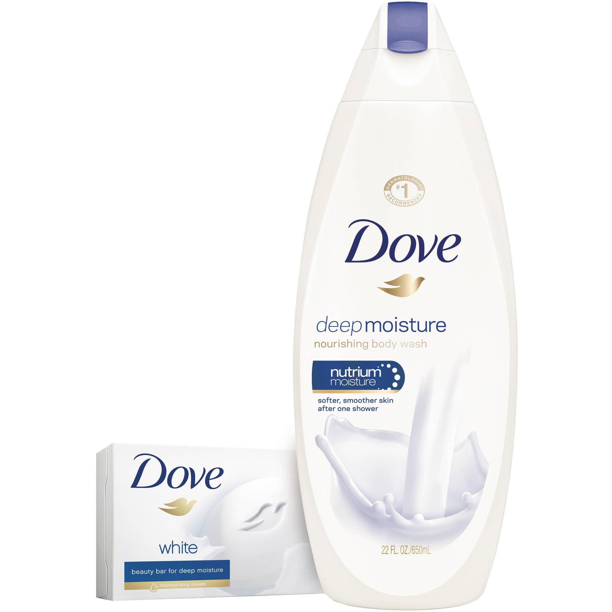 Dove Deep Moisture Sulfate Free Moisturizing Body Wash 22 Oz Pure Facial Foam 100 Gr