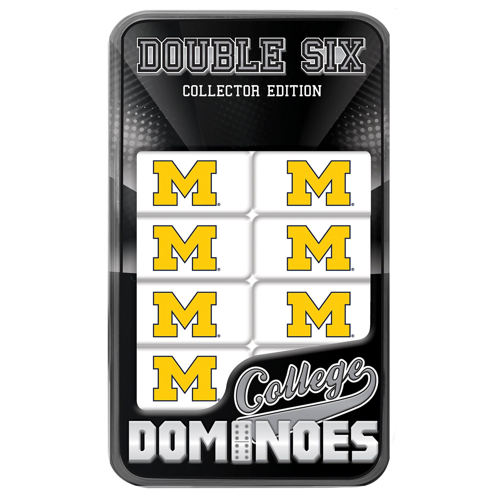 NCAA Michigan Wolverines Domino Set in Metal Gift Tin