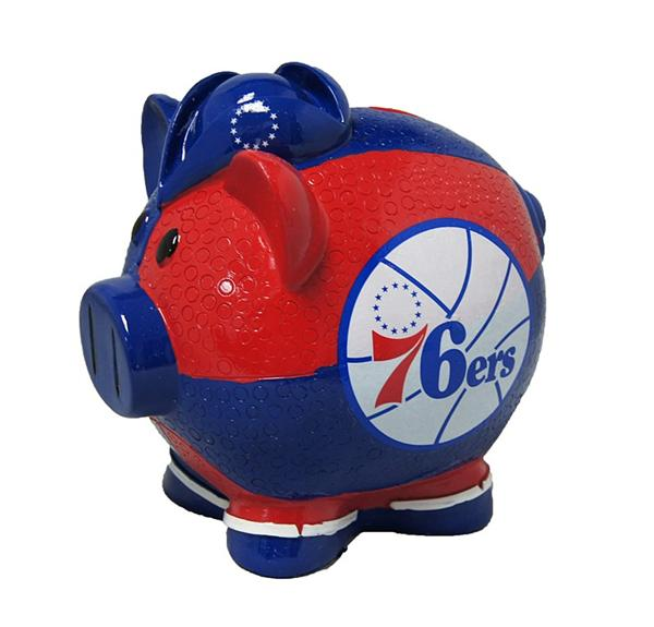 Philadelphia 76ers Piggy Bank - Thematic Large