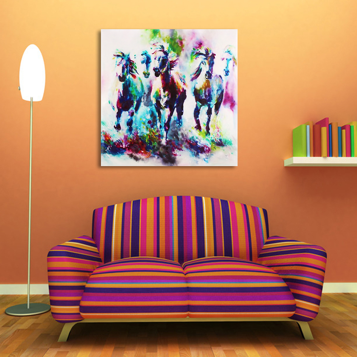 Walmart Home Decorations: Modern Horse Picture Canvas Prints Oil Painting Wall Home