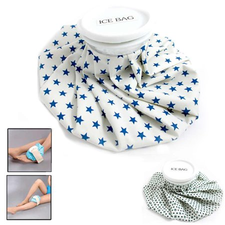 Reusable Ice Bag Pack 9 Inch Cold Therapy English Cap Design First Aid Pain