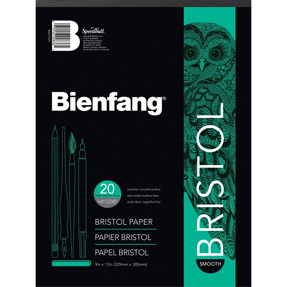 BIENFANG Drawing Bristol Board Pads (Set of 2)