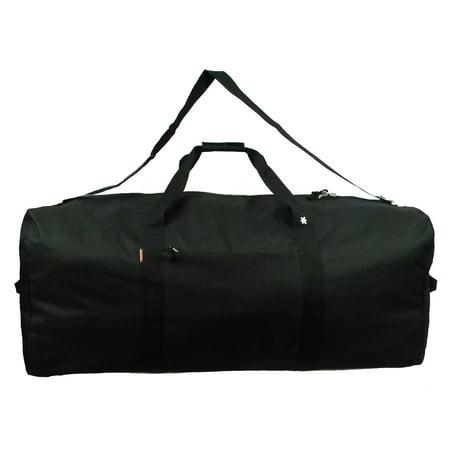 K-Cliffs Heavy Duty Cargo Duffel Large Sport Gear Equipment Travel Bag Rooftop Rack Bag Black Patrol Duty Gear Bag