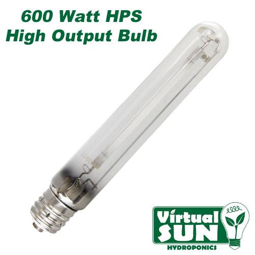Virtual Sun 600W HPS High Pressure Sodium Grow Lamp Light Bulb ...