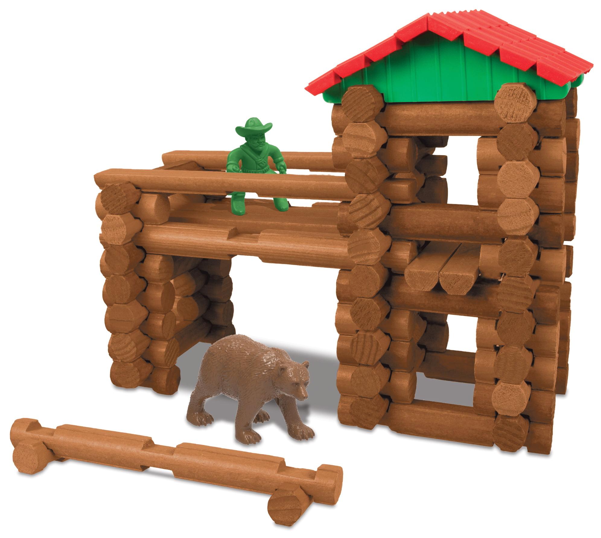 lincoln logs mountaintop hideout tin - 138 pieces