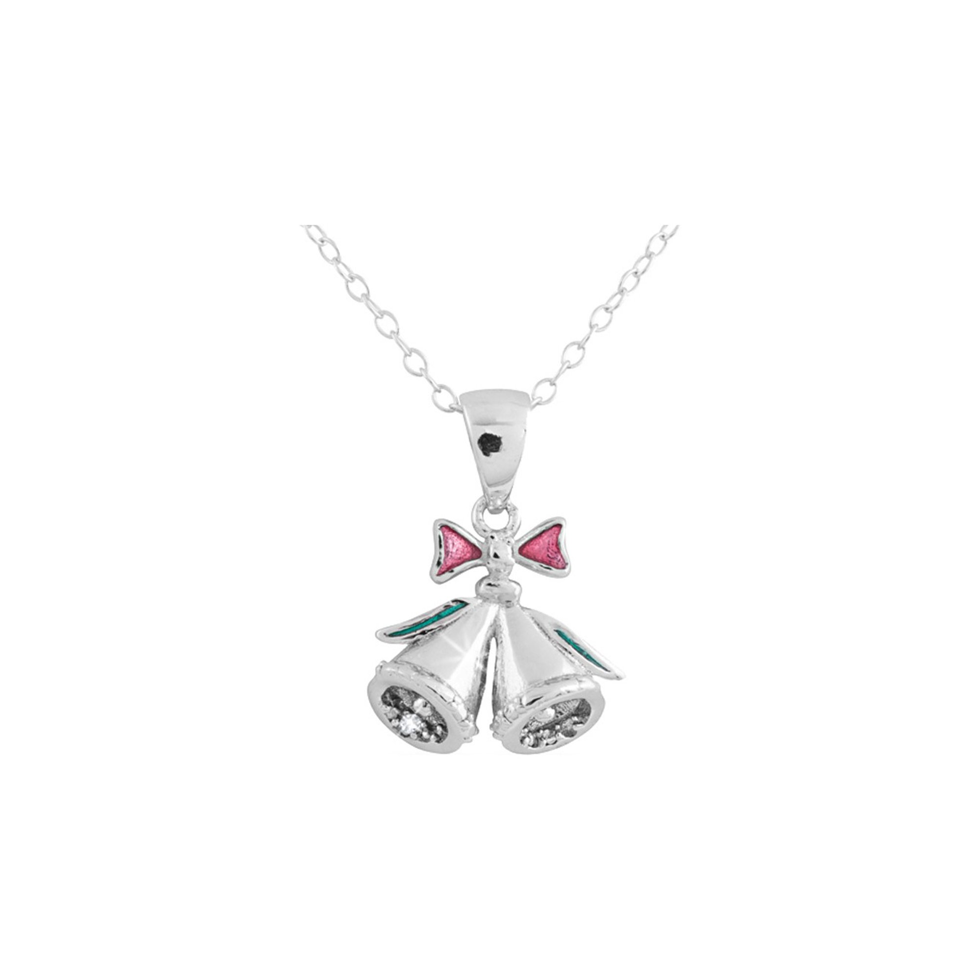 d2c177be6896c3 Christmas Bell Pendant Necklace with Diamond Accent in Sterling Silver with  Chain | Walmart Canada