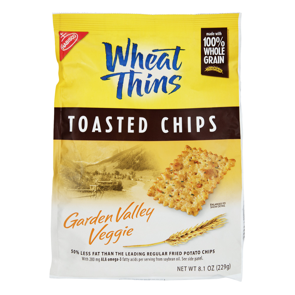 Nabisco Wheat Thins Garden Valley Veggie Toasted Chips, 8.1 OZ