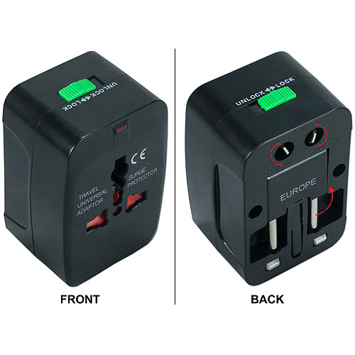 QVS PA-C3 Premium World Power Travel Adapter with Surge Protection