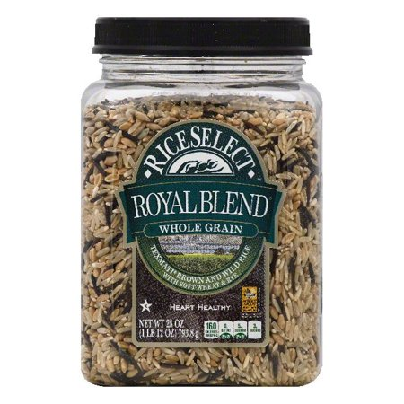 Brown Rice Blend (Rice Select Texmati Royal Blend Whole Grain Brown and Wild Rice, 28 OZ (Pack of 4))