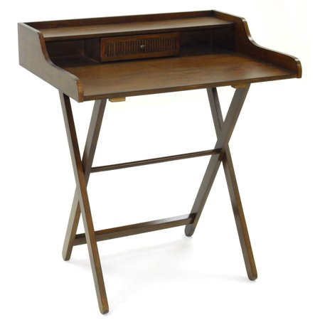 1 Drawer Folding Desk in Chestnut Finish