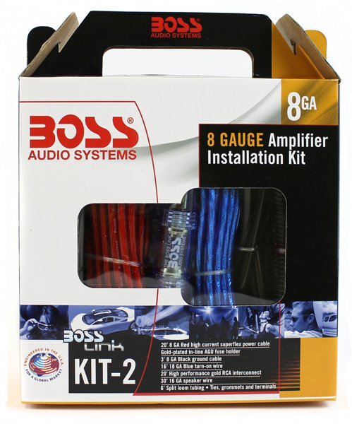 boss audio kit2 8 gauge amplifier installation wiring kit walmart com Speaker Wiring Kits From Walmart boss audio kit2 8 gauge amplifier installation wiring kit