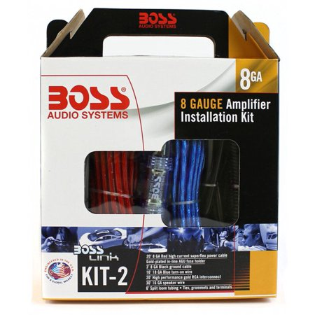 - Boss Audio KIT2 8 Gauge Amplifier Installation Wiring Kit