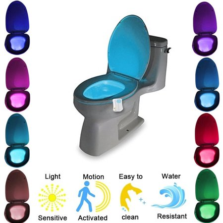Automatic LED Motion Activated Night Light Sensor for Toilet (Light Sensor Kit)