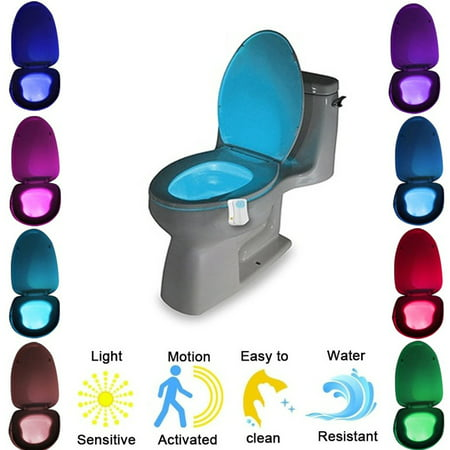 Automatic LED Motion Activated Night Light Sensor for Toilet Seat
