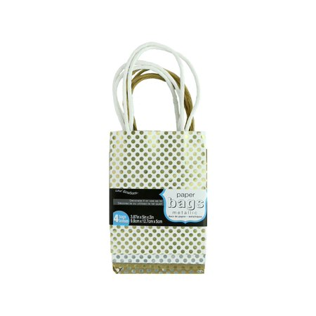 Core'Dinations Mini Gift Bags: Metallic Foil Pattern Assortment, 4 Pack