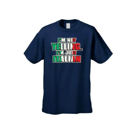 2176668a6 SHORE TRENDZ - Men's/Unisex Funny I'm Not Yelling I'm Italian Humor Short  Sleeve T-Shirt - Walmart.com